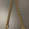 Walletchain, Keychain, Geldbörsenkette, Schlüsselkette von Smoky Summi, Flat Cut, 45cm, Messing, Gross real wear München
