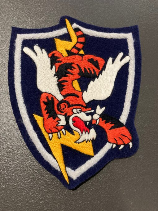 23rd Fighter Group Flying Tiger USAAF Patch, Aufnäher, Gross real wear München, Eastman Leather England