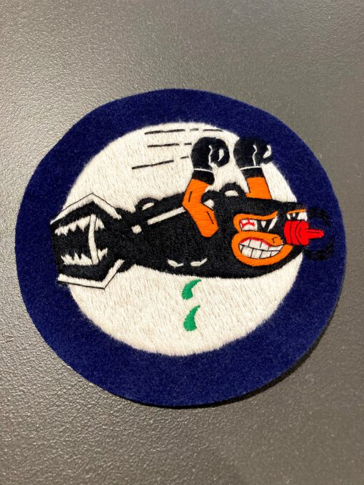 703rd Bomb Sqadron James Stewart USAAF Patch, Aufnäher, Gross real wear München, Eastman Leather England, Bombe