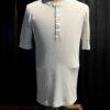 Schiesser Revival Karl-Heinz kurzarm Shirt Weiß, Gross real wear München, Henley mit Knopfleiste