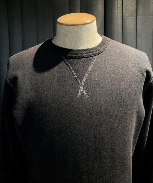 Buzz Rickson's Set-In Crewneck Sweat Shirt, Gross real wear München, Black