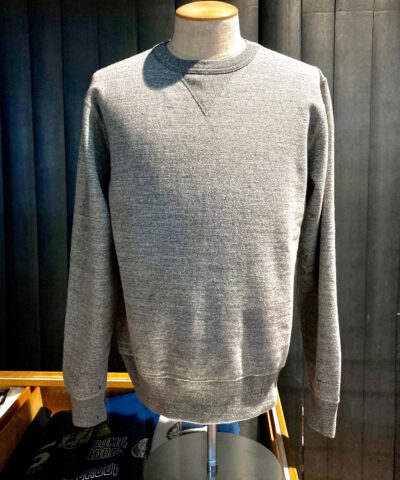 Buzz Rickson's Set-In Crewneck Sweat Shirt, Gross real wear München, Heather Gray