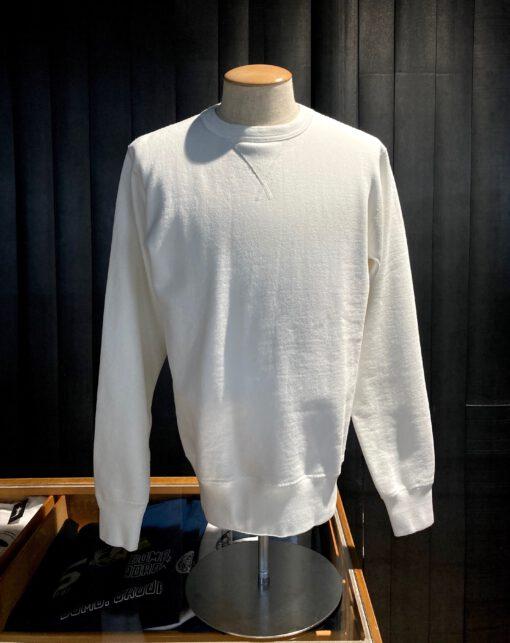 Buzz Rickson's Set-In Crewneck Sweat Shirt, Gross real wear München, White