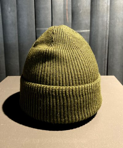 Buzz Rickson's A-4 Mechanic Cap, Wollmütze olive, Gross real wear München