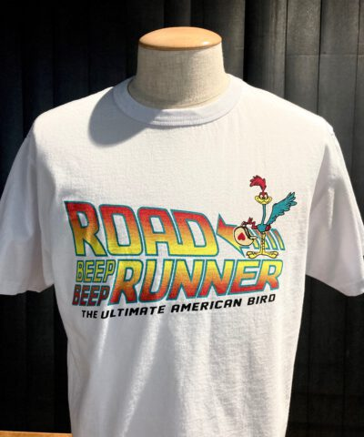 Cheswick Back to the Road Runner T-Shirt, Gross real wear München, Looney Tunes, White