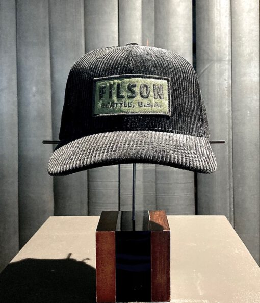 Filson Logger Cap Corduroy, Trucker Cap, Baseball Cap, Gross real wear München, Black