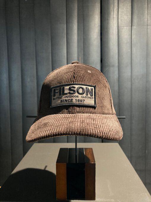 Filson Logger Cap Corduroy, Trucker Cap, Baseball Cap, Gross real wear München, Darkbrown