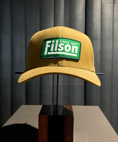 Filson Tin Cloth Logger Cap, Trucker Cap, Geölt, Gross real wear München, Tan