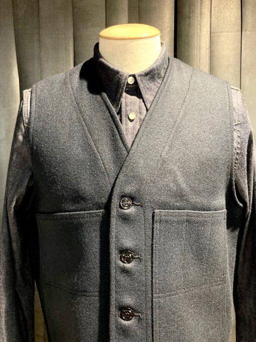 Filson Mackinaw Wool Vest, Wollweste, Navy, Gross real wear München