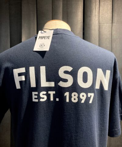 Filson Popeye T-Shirt navy, Gross real wear München, limited Edition, Seemann, Baumwolle