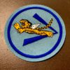 Flying Tiger AVG USAAF Squadron Patch, Aufnäher Hellblau, Gross real wear München, Eastman Leather England
