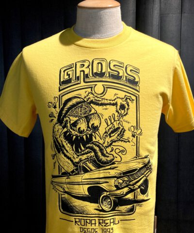 Gross real wear München Weirdo #3 Lowrider, Lowbrow T-Shirt, Gelb, Cotton