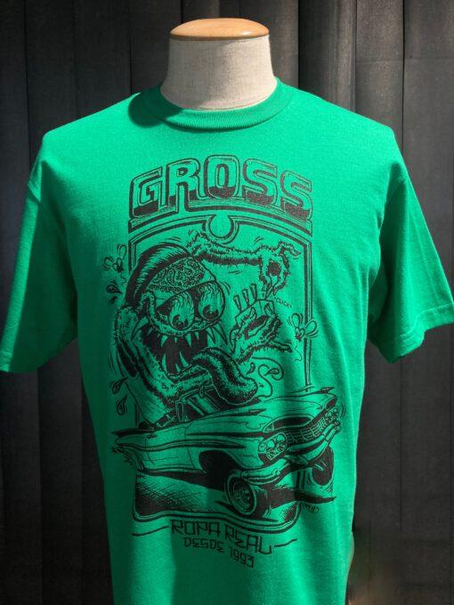 Gross real wear München Weirdo #3 Lowrider, Lowbrow T-Shirt, Grün, Cotton