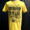 Gross real wear München Weirdo #4 Surfcity T-Shirt, Lowbrow, Gelb, Cotton