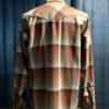 Pendleton Fitted Snap-Front Canyon Western Shirt, Wolle, Wollhemd langarm, Druckknöpfe, Brusttaschen, Gross real wear München, Braun, Beige kariert
