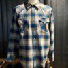 Pendleton Snap-Front Canyon Western Shirt, Gross real wear München, langarm Hemd kariert mit Druckknöpfen, Wolle, Navy, Taupe, Blau, Ombre
