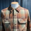 Pendleton Fitted Board Shirt langarm Braun, Beige kariert, Gross real wear München, Wolle, Loopcollar, Reverskragen, Brusttaschen mit Patte