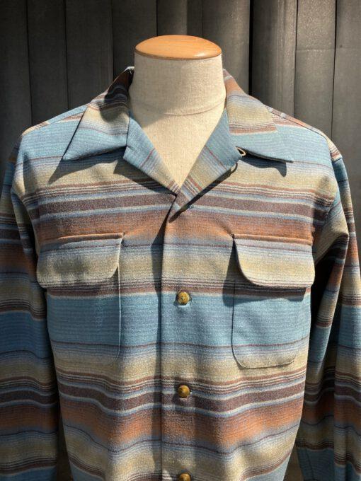 Pendleton Original Board Shirt Wolle langarm gestreift, Gross real wear München, Loopcollar, Reverskragen, Brusttaschen mit Patte