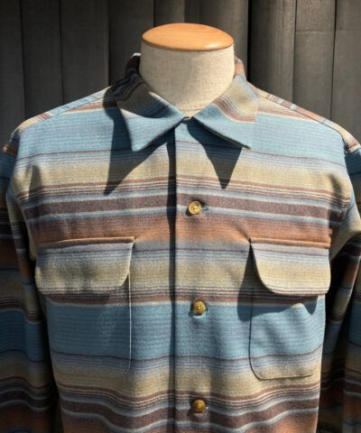 Pendleton Original Board Shirt Wolle langarm gestreift, Gross real wear München, Loopcollar, Reverskragen, Brusttaschen mit Patte