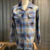 Pendleton Original Board Shirt Wolle langarm, Brusttaschen mit patte, Gross real wear München, Loopcollar, Reverskragen, Blau, Beige