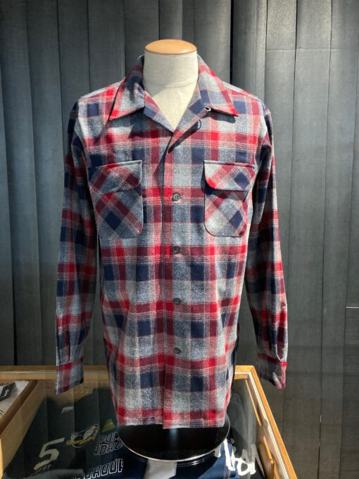 Pendleton Original Board Shirt Wolle langarm kariert, Gross real wear München, Loopcollar, Reverskragen, Brusttasche mit Patte