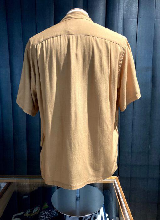 Portuguese Flannel kurzarm Shirt, Egypt Print beige, Gross real wear München, Rayon, Hemd, Fotoprint