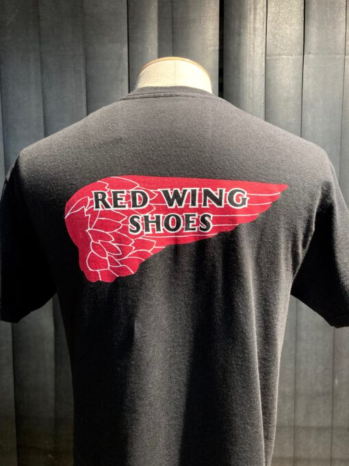 Red Wing Archive Logo T-Shirt, Gross real wear München, Cotton, Black