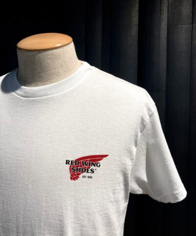 Red Wing Archive Logo T-Shirt, Gross real wear München, Cotton White
