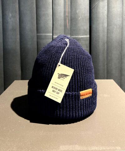 Red Wing Merinowoll Beanie, Strickmütze, gross real wear München, Navy