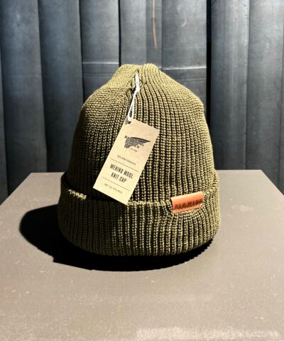 Red Wing Merinowoll Beanie, Strickmütze, gross real wear München, Olive