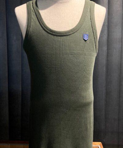 Schiesser Revival Friedrich Tank Top, Doppelripp Olive, Gross real wear München, Trägershirt