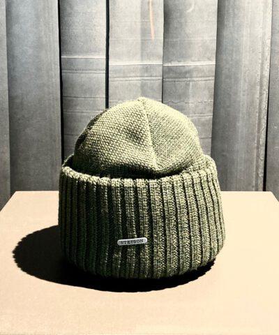 Stetson Merino Woll Beanie, Strickmütze, Gross real wear München, Olive