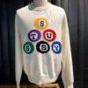 Stüssy Billard Sweater natural, Gross real wear München, Pullover Baumwolle