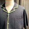 Stüssy Stripe Edge Knit Shirt, kurzarm Strickpolo durchgeknöpft, Navy, Gross real wear München