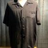Style Eyes Plain Bowling Shirt Black, Gross real wear München, kurzarm Hemd, Rayon, Reverskragen, Loopcollar