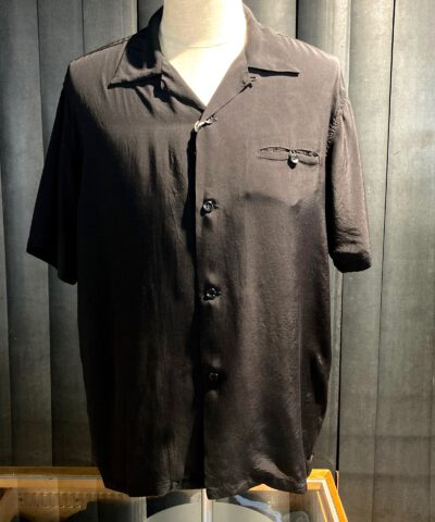 Style Eyes Plain Bowling Shirt Black, Gross real wear München, kurzarm Hemd, Rayon, Reverskragen, Loopcollar