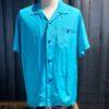 Style Eyes Plain Bowling Shirt, kurzarm Hemd Rayon, Gross real wear München, Hellblau