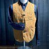 Tellason Hunting Vest Duck Canvas, Weste mit Taschen und Chinch Back ocker, Gross real wear München