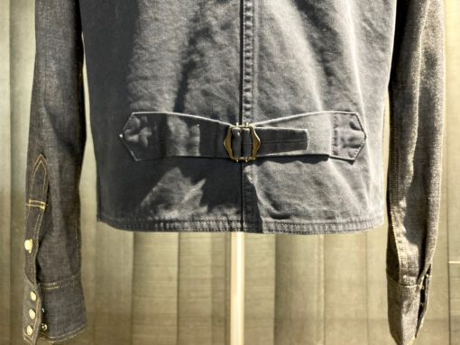 Tellason Hunting Vest Canvas, Weste mit Taschen und Chinch Back Navy, Gross real wear München