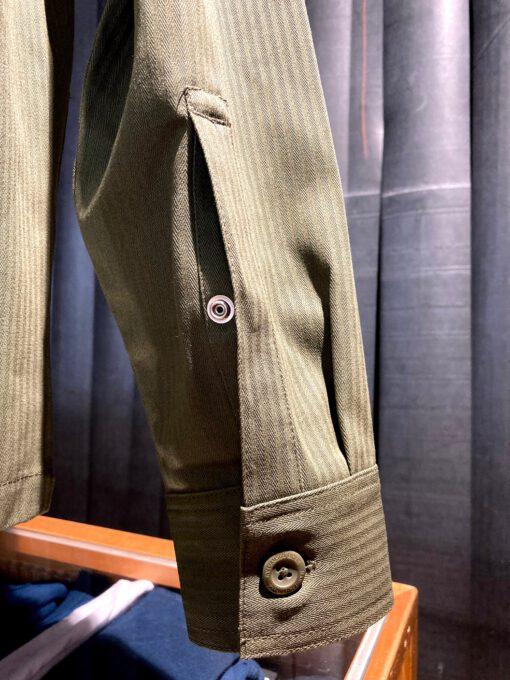 Dickies Funkley Shirt, langarm, Herringbone, Gross real wear München, Baumwolle, Brusttasche, aufgesetzte Taschen, Druckknopf Manschette, Military