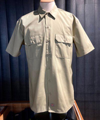 Dickies Work Shirt kurzarm, Gross real wear München, Brusttaschen mit Patte, Khaki
