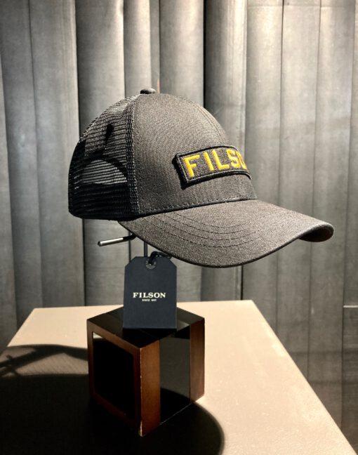 Filson Mesh Snap Back Logger Cap, Gross real wear München, Black