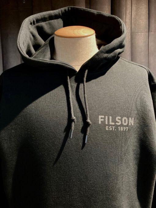 Filson Popeye Pullover Hoodie, Kaputzensweatshirt, Black, Gross real wear München