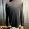 Fred Perry Classic Crew Neck Jumper, Strickpullover, Black, Gross real wear München, Lorbeer Kranz, Baumwolle, Wolle, langarm