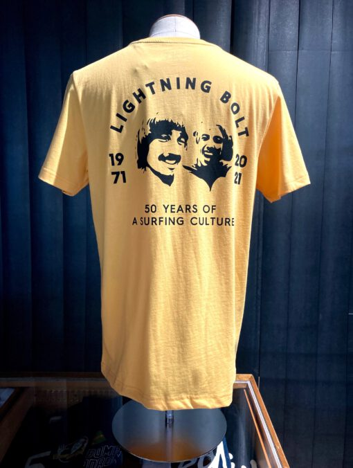Lightning Bolt 50 Years T-Shirt, orange, Gross real wear München, Front-Back Print