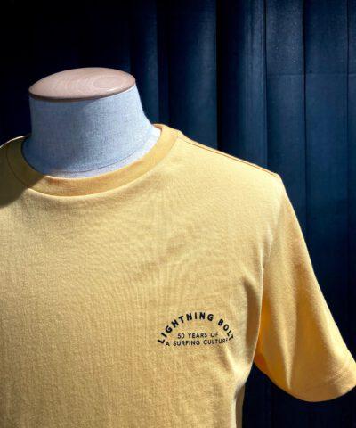Lightning Bolt 50 Years T-Shirt, orange, Gross real wear München, Front-Back Print
