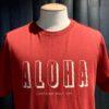 Lightning Bolt Aloha T-Shirt, Gross real wear München, Rot, Baumwolle