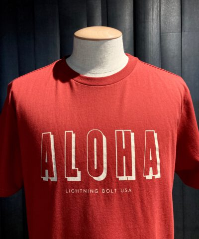 Lightning Bolt Aloha T-Shirt, Gross real wear München, Rot, Baumwolle