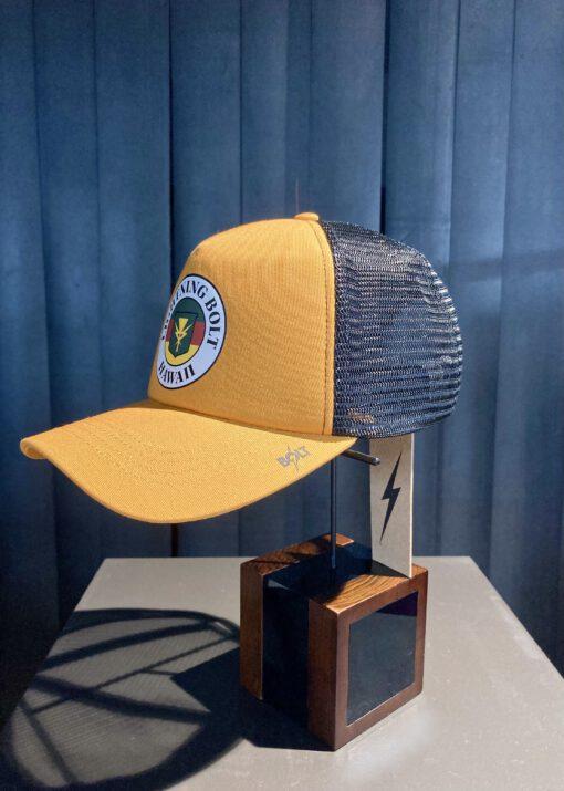 Lightning Bolt Hawaii Trucker Cap, Orange, Snapback, Gross real wear München