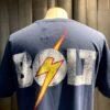 Lightning Bolt OG Logo T-Shirt, Navy, Gross real wear München, Baumwolle, Brusttasche, Front und Back Print